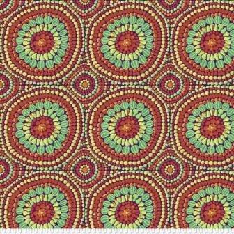 Wide Back Kaffe Fruit Mandala - Red (108)