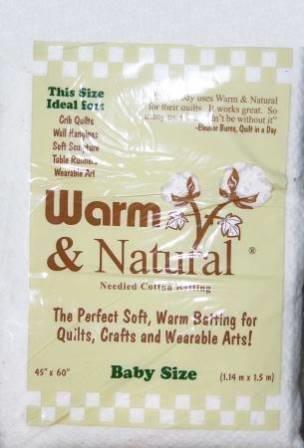 Warm and Natural  Batting 45 x 60 - Baby
