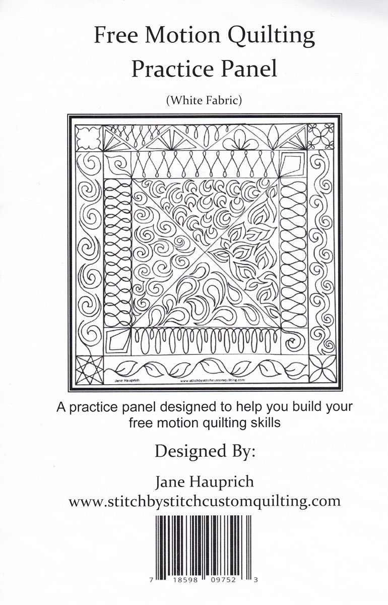 Free Motion Quilting - Practice Panel - White