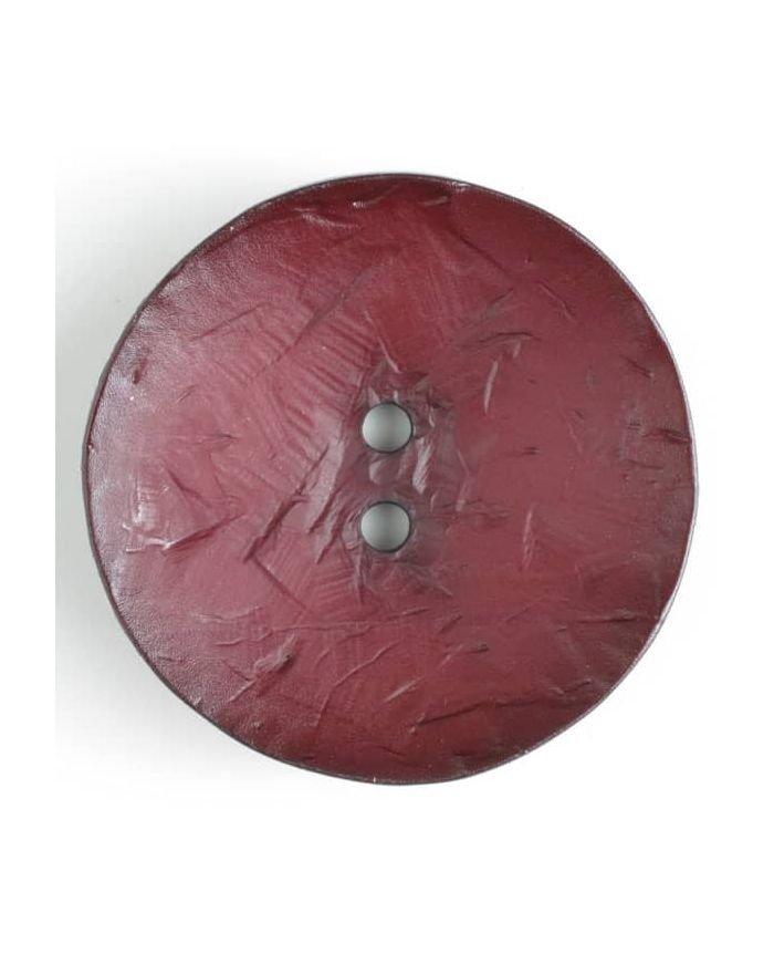 Round Cordovan Button 60mm Wine Red
