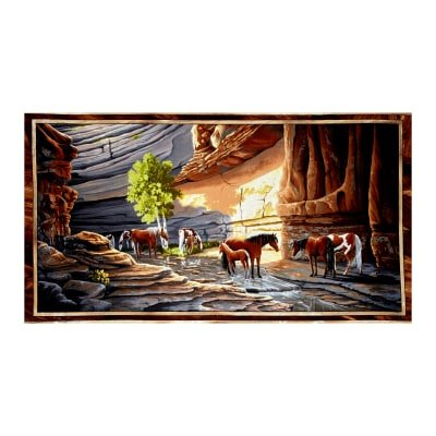 C2-101 Sundance Canyon, 23.5 Horse Panel, Quilting Treasures