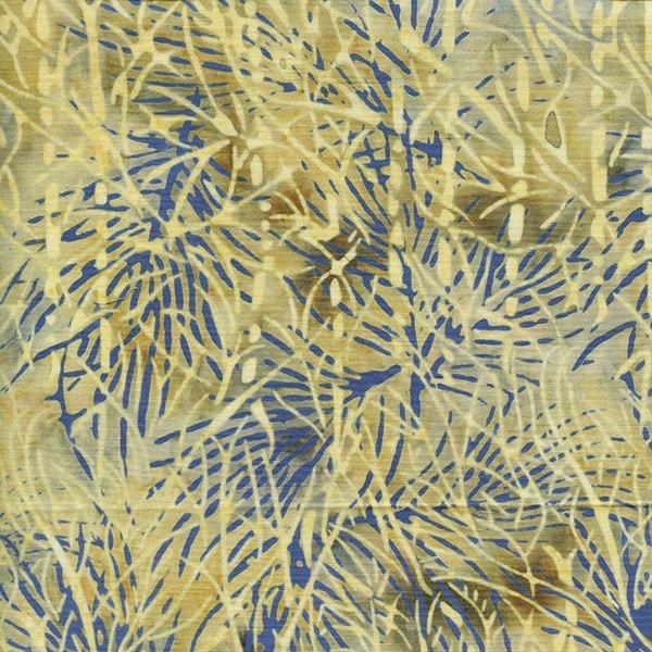 Island Batik 121509083 Cream, Pale Blue, Twigs, 100% Cotton