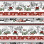 1615-089 Multi Novelty Stripe, Holiday Homestead, Henry Glass