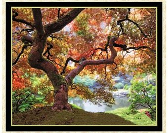1649-27199-X, ARTWORKS XII, TREE PANEL, MULTI COLORS, 36 PANEL, Quilting Treasures