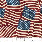 Stars and Stripes 20158-49 Navy, Red, and Tan Flags, Stonehenge Stars and Stripes, Northcott