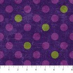 Canvas  22597-88  Amethyst w/ Multi Dots,  Canvas Spot On,  Northcott