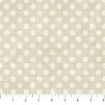 Canvas  22598-13 French Vanilla, w/ Cream Dots,  Canvas Spot On,  Northcott