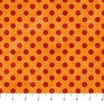 Canvas  22598-55 Marmalade, w/ Orange Dots,  Canvas Spot On,  Northcott