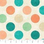 Canvas  22606-63 Agean Sea, Multi-Color Dots,  Canvas Spot On,  Northcott