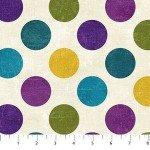 Canvas  22606-86 Plum, Multi-Color Dots,  Canvas Spot On,  Northcott