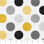 Canvas 22606-91 Gray Mist, Gray & Gold Dots,  Canvas Spot On,  Northcott