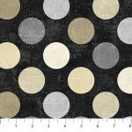 Canvas 22606-99 Ebony, Light Gray & Beige Dots,  Canvas Spot On,  Northcott