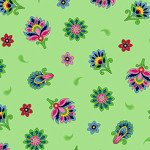 IMPERIAL PAISLEY TOSSED FLOWER LT LIME