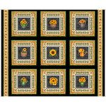 Always Face The Sunshine SUNFLOWER PICTURE PATCHES BLACK