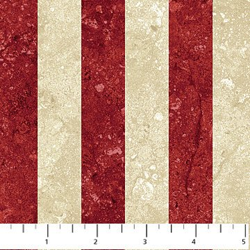 Stars and Stripes 39100-25 Red, and Tan 7/8 wide Stripes, Stonehenge Stars and Stripes, Northcott