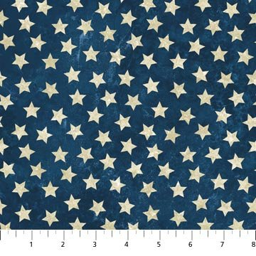 Stars and Stripes 39101-49 Tan Stars on Navy, Stonehenge Stars and Stripes, Northcott