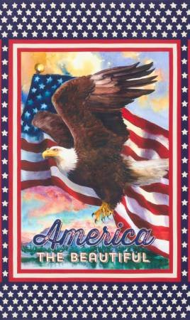 AGA-16929-202 AMERICA THE BEAUTIFUL, AMERICANA 24 DIGITAL PANEL, ROBERT KAUFMAN