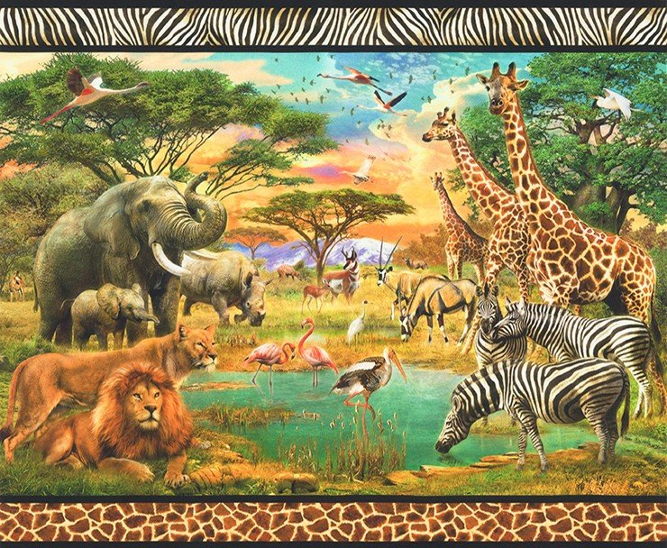 AYK-17040-286 WILD, Wildlife, 36 DIGITAL PANEL, ROBERT KAUFMAN
