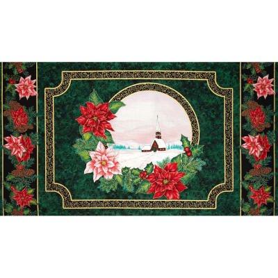0386849 Christmas Morning W/Metallic, 24 In. Panel