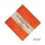 CSTONE42-53 Sunglow Chips - 5 inch Squares, 42 Pieces, Stonehenge Gradations, Northcott Fabrics