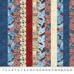 DP39437-30 Digital Print, 2 Strips of Multi Fabrics, Stonehenge Stars and Stripes 7, Northcott
