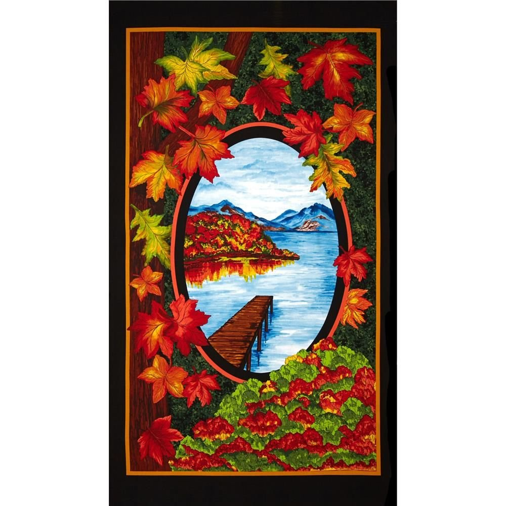 60945 2 Fall Reflections,  24 Panel, Exclusively Quilter