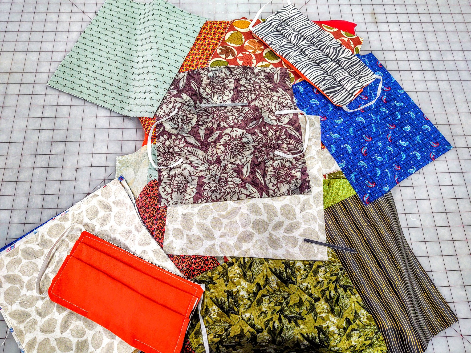 Variety Color Ready to Sew Mask Kits