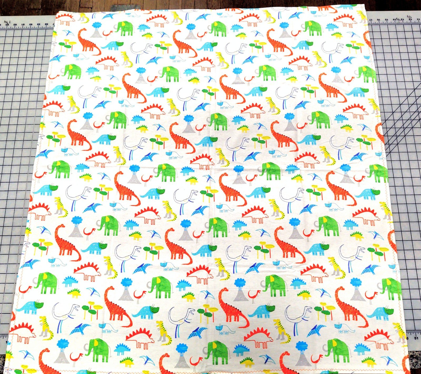 Dinosaur and Elephant Quilt 45 X 45