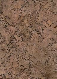 Bali Batik N2904-80 Taupe, Scrolly Bird Taupe, Hoffman Fabrics 100% Cotton