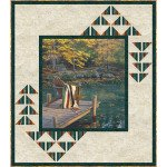 KIT2515 Peaceful Retreat, 53 X 63 Quilt Kit, On Golden Pond