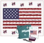 KIT-8007E-AM Red, White & Blue FLAG OF FREEDOM, Quilt Kit 67 X 80 Quilting Treasures