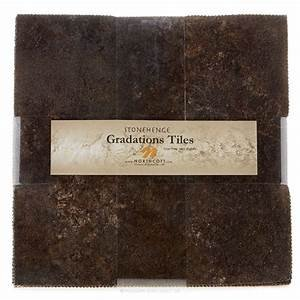 TSTONE42-97 Slate Tiles - 10 inch Squares 42 Pieces, Stonehenge Gradations