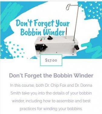 Bobbin Winder Online Course