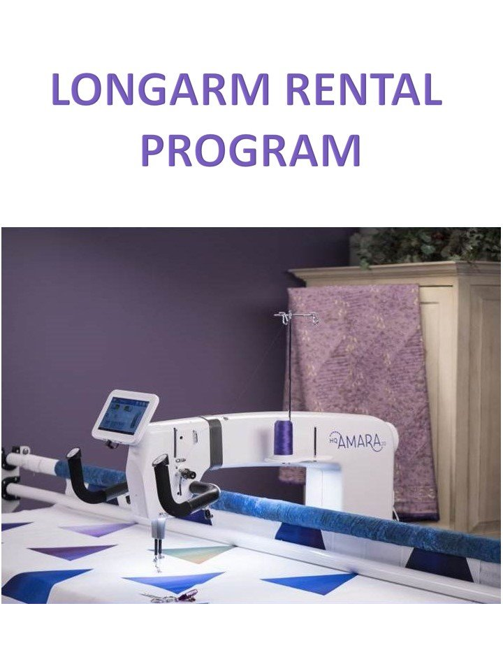 Rent our longarm machines!