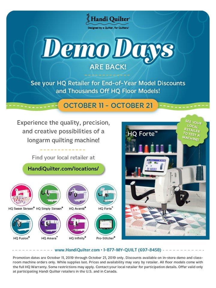 October Demo Days Sale