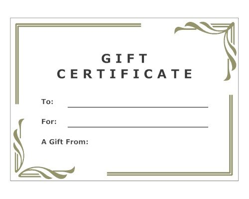 Gift Certificate Online Purchase