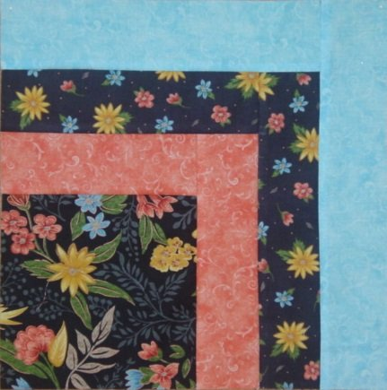 LITTLE WINDOWS QUILT KIT -BLACK WITH FLOWERS