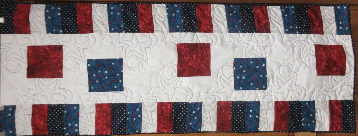 Sew Charmed - Red, White and Blue Runner