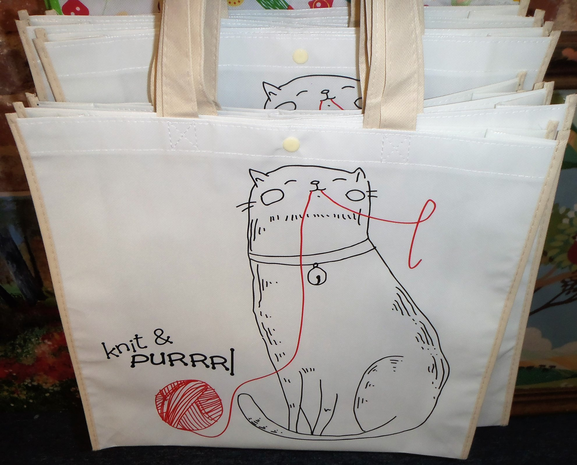 Knit & Purrrl Tote Bag