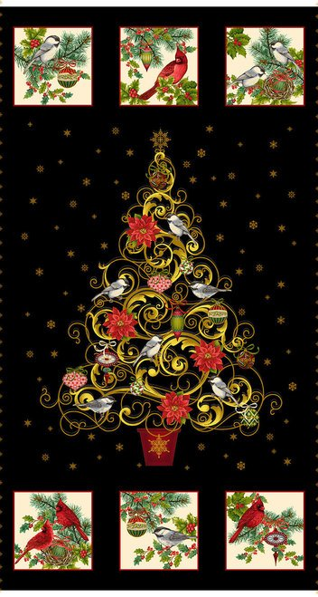 Christmas Joy Tree Panel