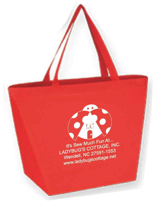 Ladybug Budget Shopper Tote