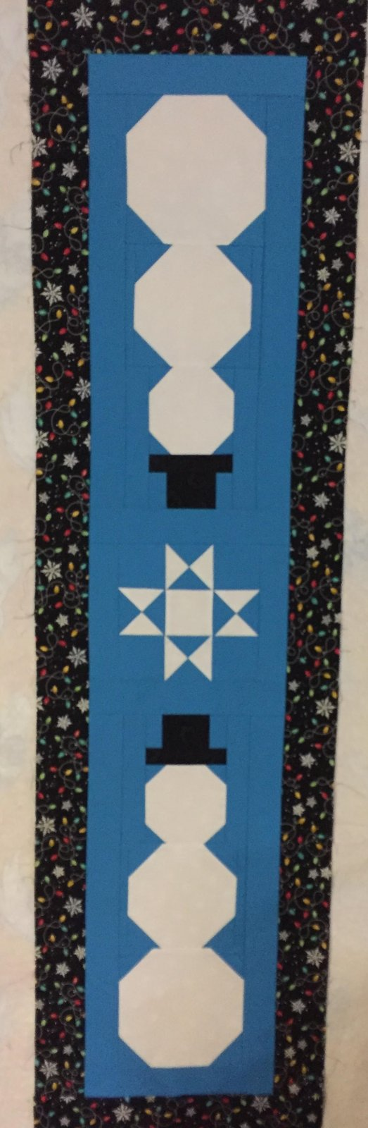 Snowman Table Runner Top