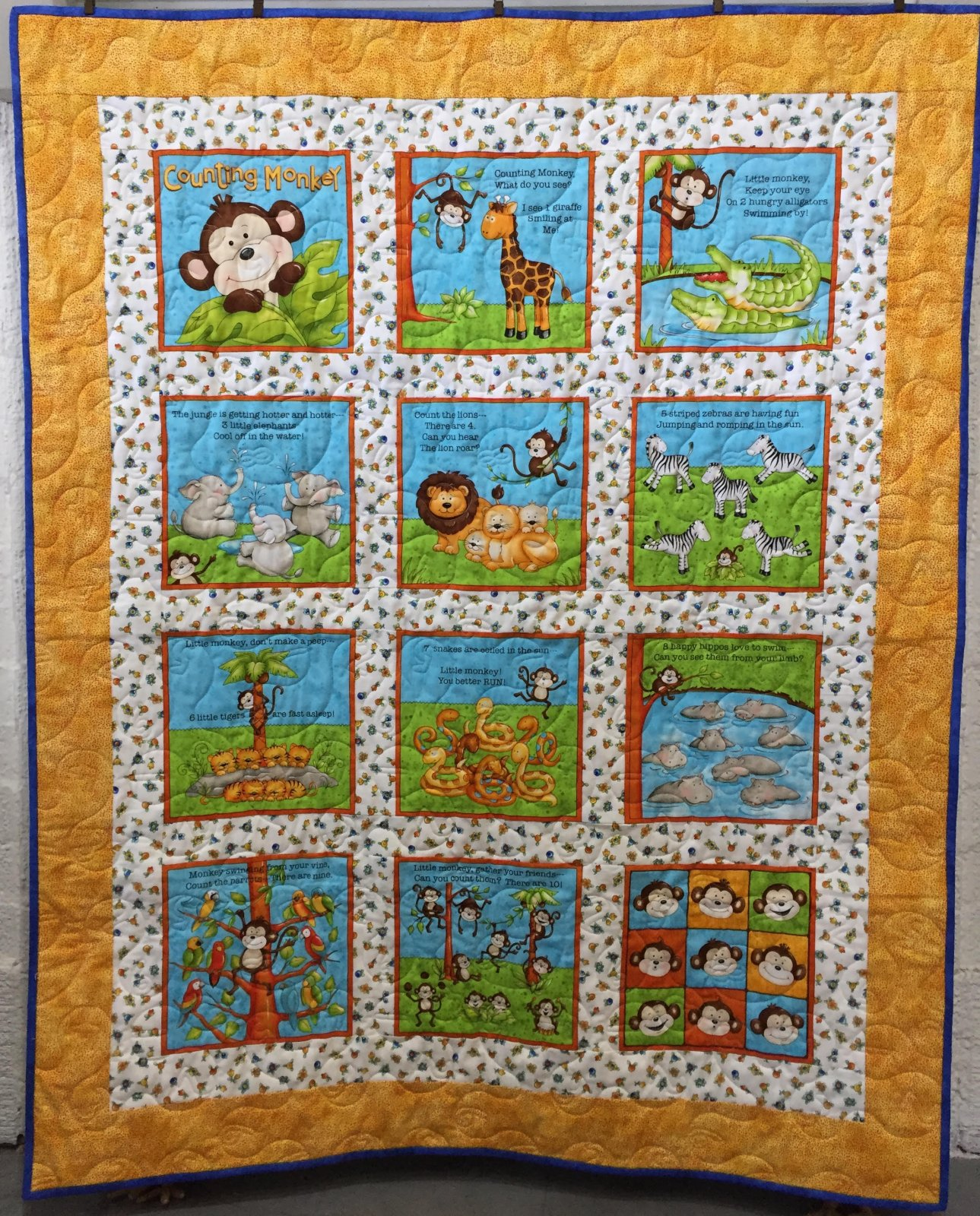 Counting Monkeys Quilt