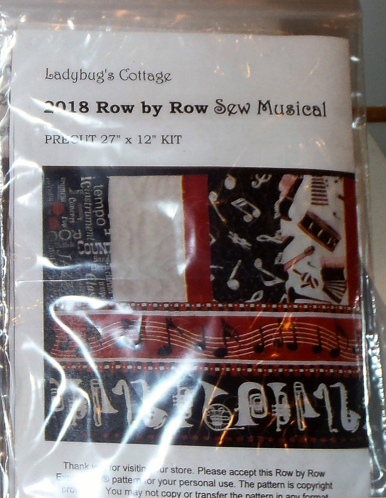 2018 Row by Row Sew Musical Kit