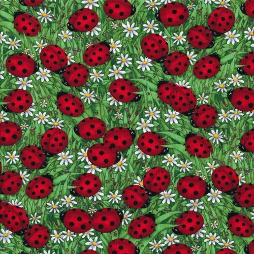 Debi C1175 Green Ladybugs