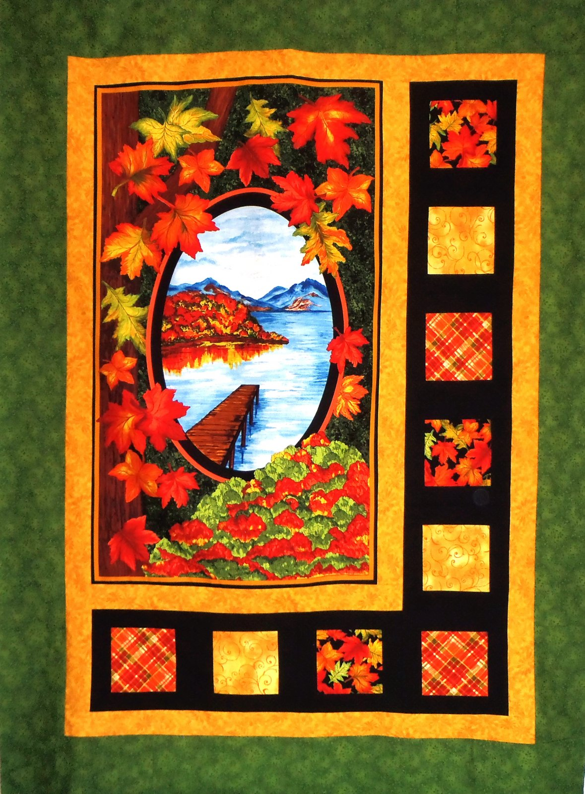 Fall Sidelights Quilt Top