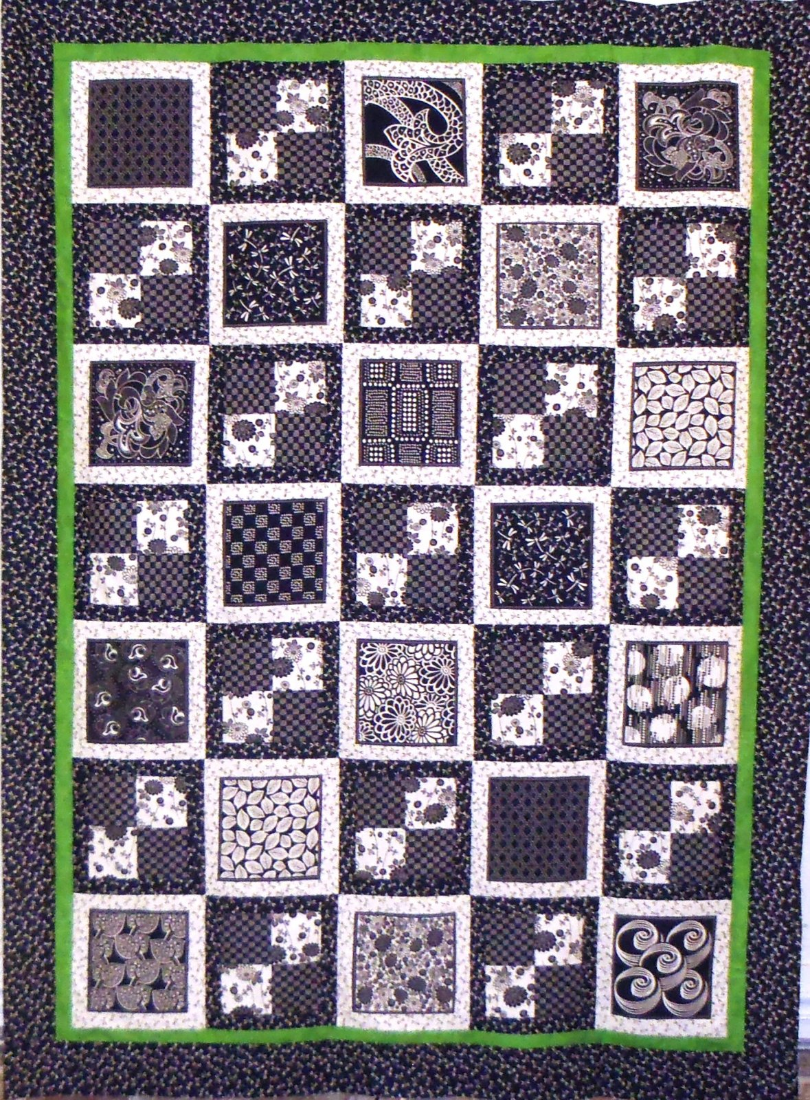 Framed Four Patch Quilt Top