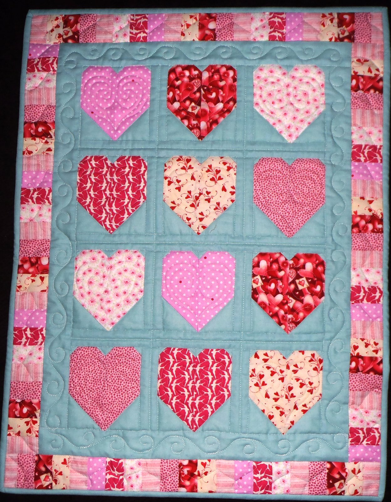Happy Hearts Wall Quilt