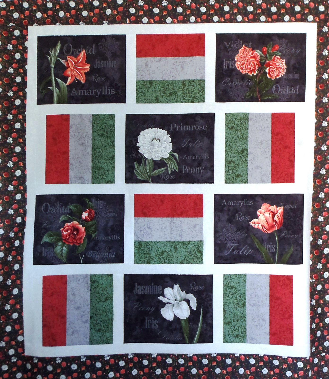 Ladybug's Flower Show Quilt Top