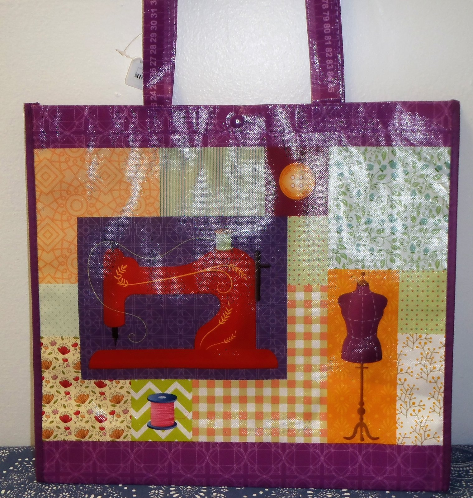 Purple Shopping Tote Bag